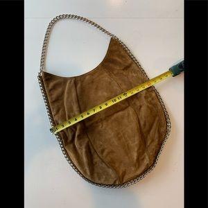 Suede Stuart Weitzman saddle bag